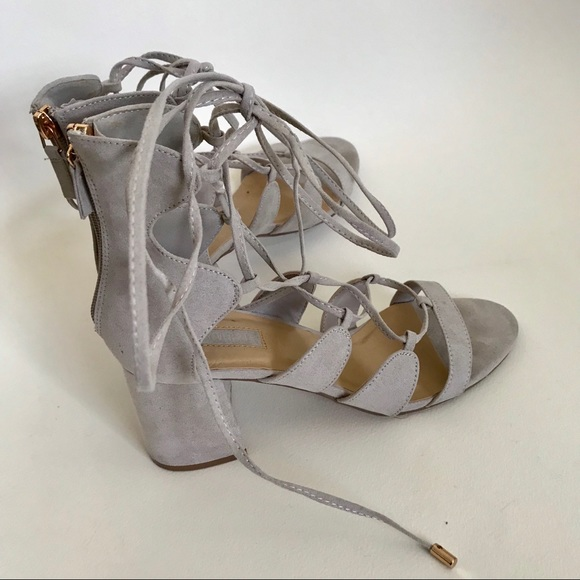 94b60779b0a Forever 21 Shoes - Forever 21 lace up block heels size 7